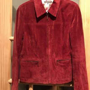 Never worn Burgundy suede jacket